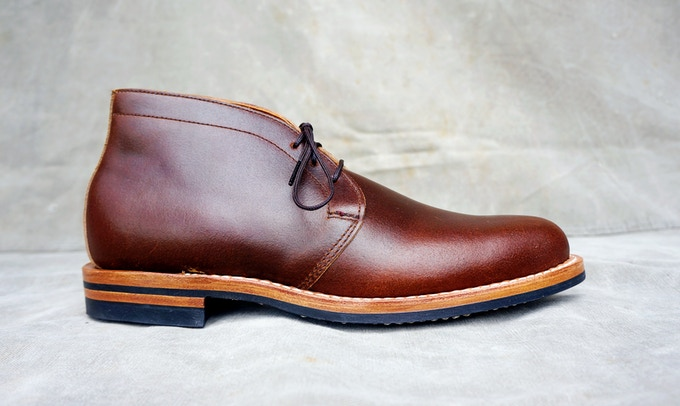 M&R Street Boot - Horween Cinnamon Waxed Flesh with Dainite Sole