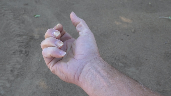 Relaxed hand shape
