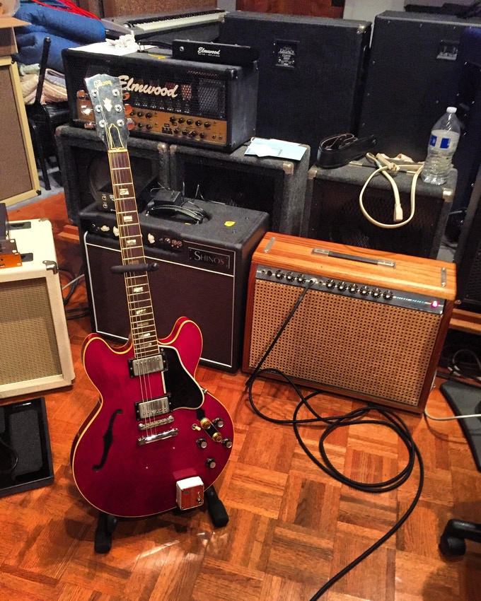 """Actual guitar and amp that Jay use to record the solo to Steely Dans """"Peg"""""""