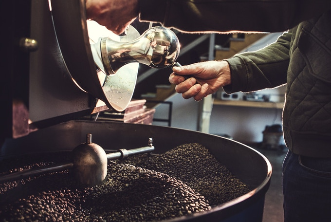 Roasted By Hand, Using Small Batch Drum Roasters.