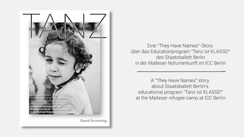 TANZ, dancing with refugee kids. A THEY HAVE NAMES Photobook