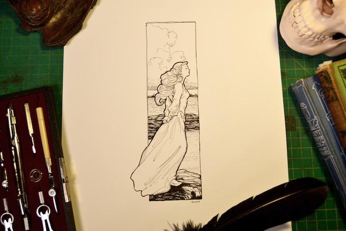 Annabel Lee Line Artwork