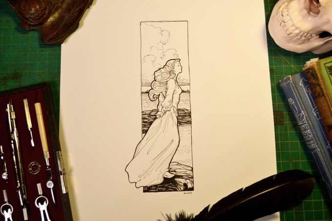 Annabel Lee Line Artwork