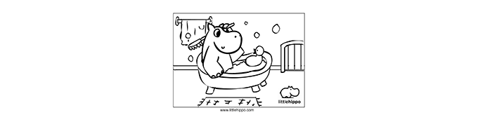 Just a hippo taking a bath...