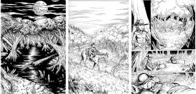 sample of original art pages available from Morris #0 & 1