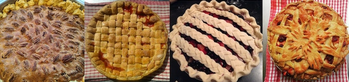 samples of pies made by Shane Heron