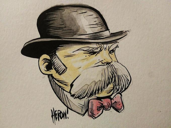 Morris head sketch sample by Shane Heron