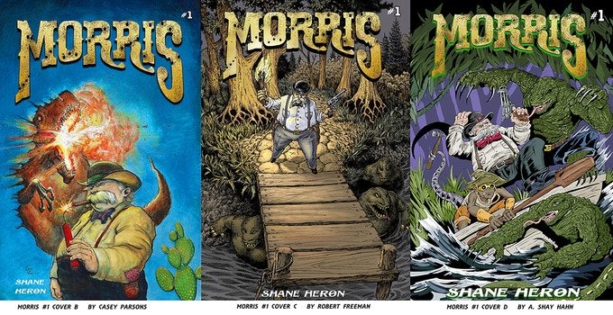 Morris #1 Variant covers by Casey Parsons,  Robert Freeman and A. Shay Hahn