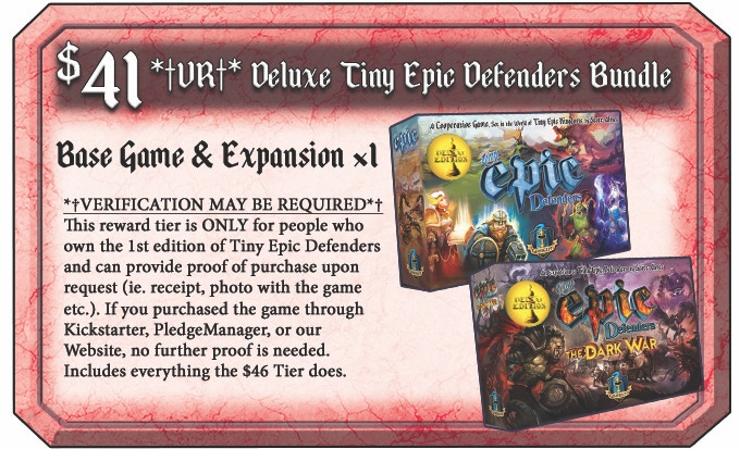Tiny Epic Defenders: The Dark War & TED 2nd Edition by Gamelyn Games