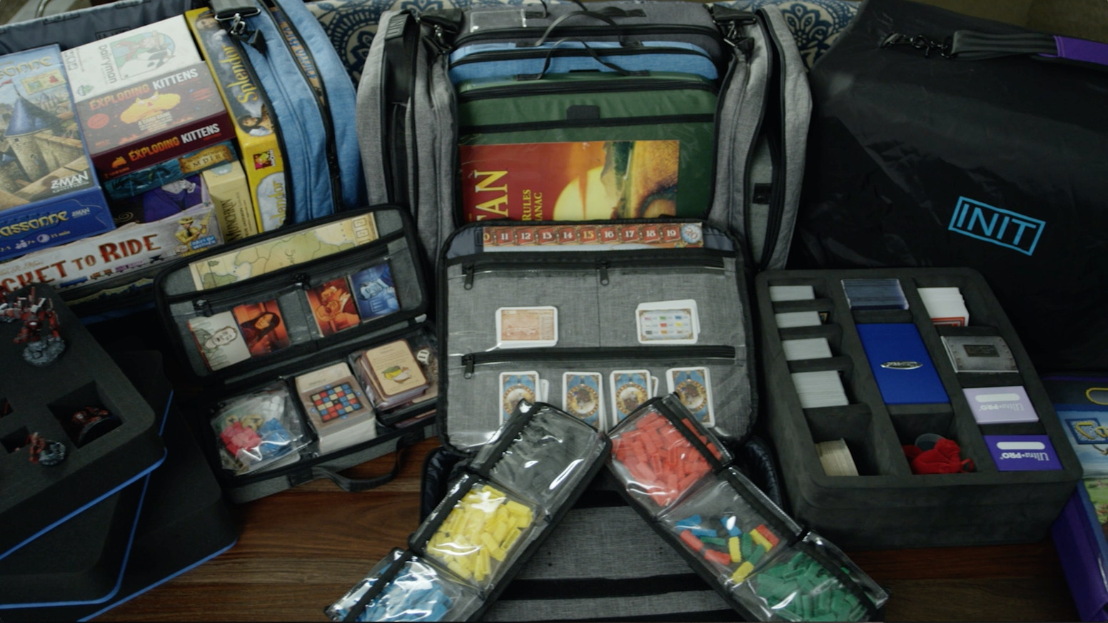 Modular tabletop gaming bags, cases, & accessories for boards, cards, miniatures, dice, tokens and more. Protect, Store, Travel, Play!