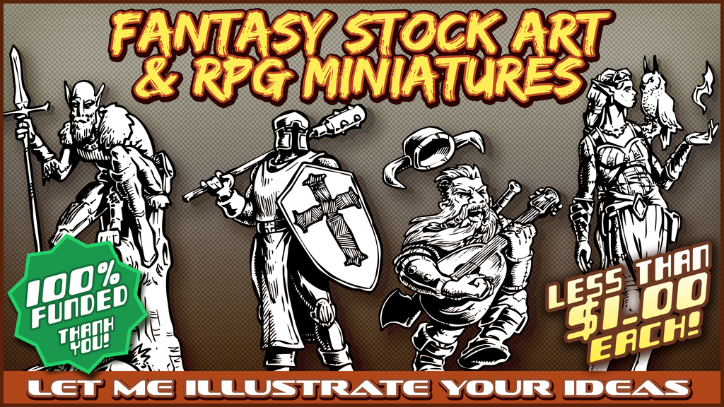 Fantasy Stock Art & RPG Minis project video thumbnail