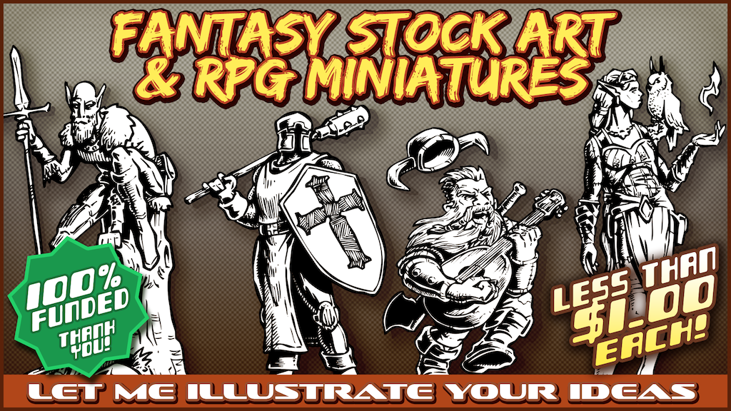 Fantasy Stock Art & RPG Minis project video thumbnail