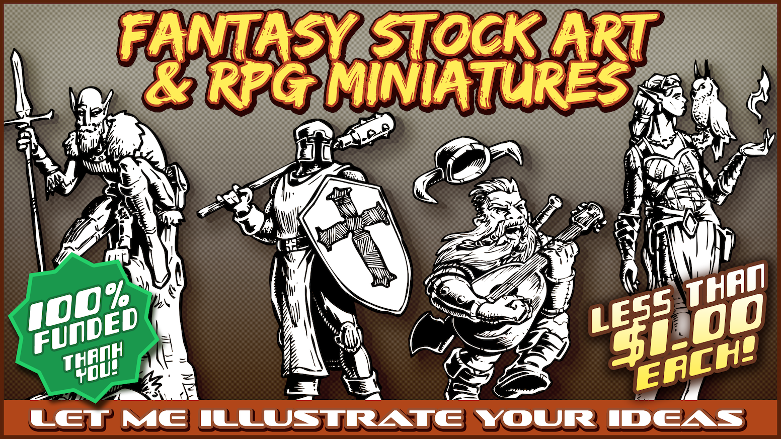 60+ Fantasy Character and Monster Illustrations now AVAILABLE at the link below!