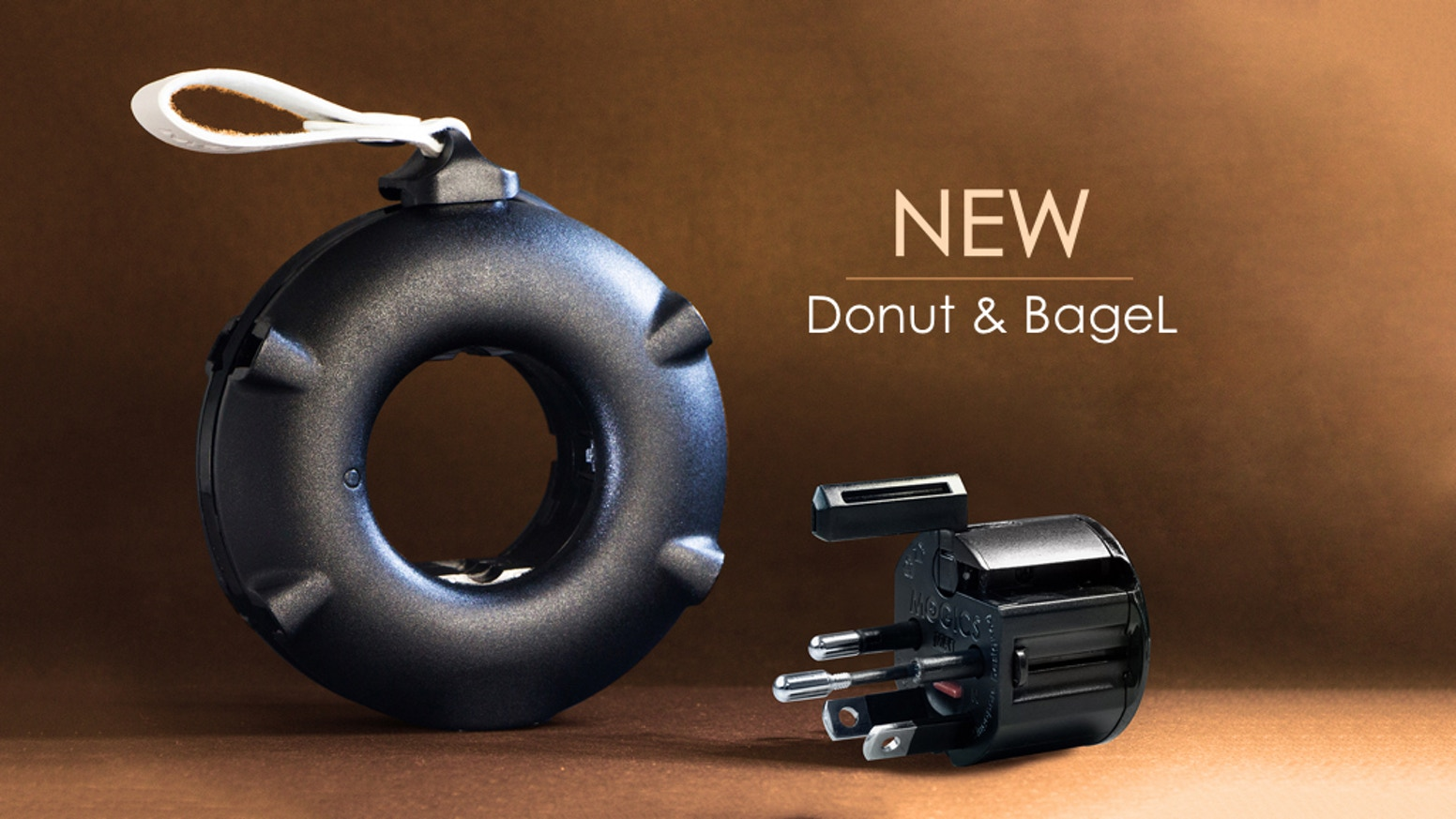 World's Only Travel Power Strip -- Features Upgraded. New MOGICS Adapter and More Surprises. Customize Your Own Donut & Bagel!