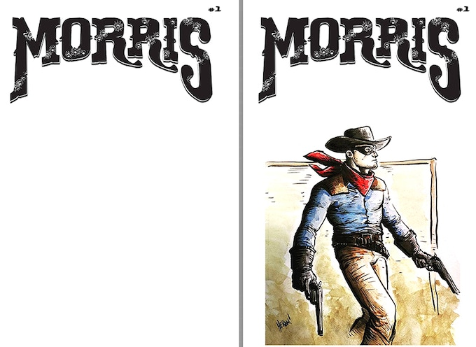Morris #1 Blank cover with or without sketch (sample sketch)