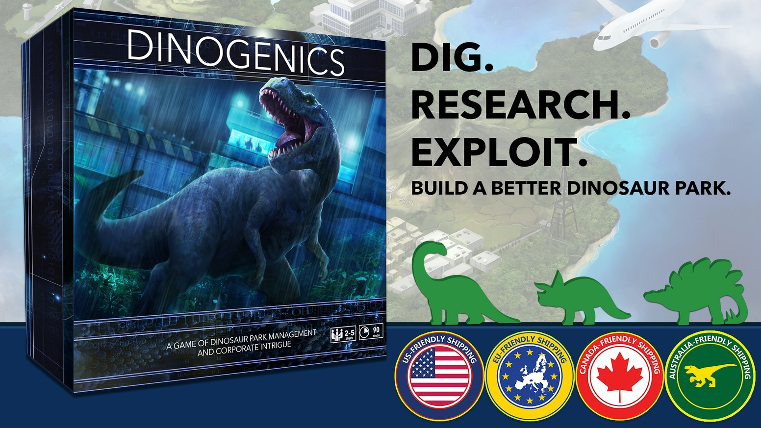 Compete to build the most popular and profitable dinosaur park in this thematic worker placement board game.
