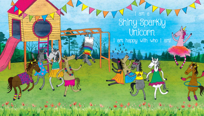 """Ali The Shiny Sparkly Unicorn is a beautifully illustrated children's book with an important message for little people to """"Be Yourself"""""""