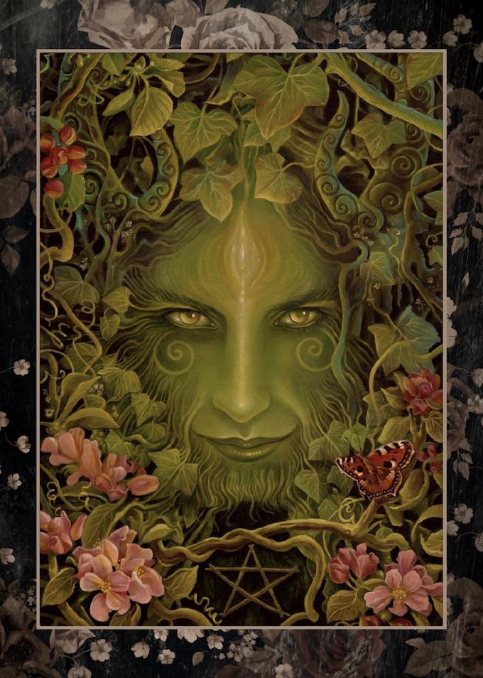 'THE GREENMAN' Signed Art Print