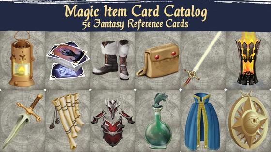 Magic Item Card Catalog: 5e Fantasy Reference Cards