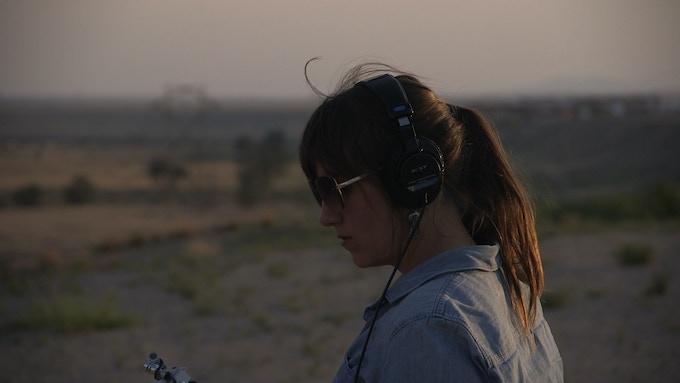 Taylor capturing sound near Kirtland Airforce Base