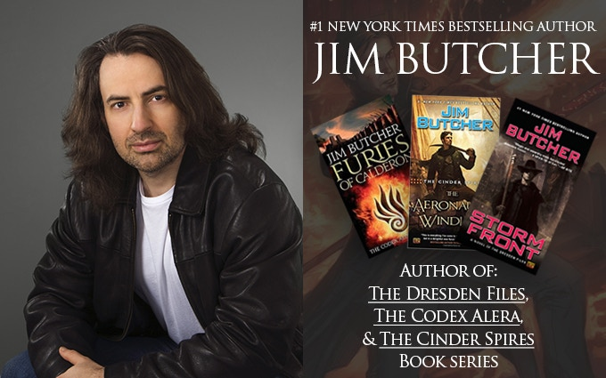 Jim Butcher, author of the Dresden Files, Codex Alera, and the Cinder Spires