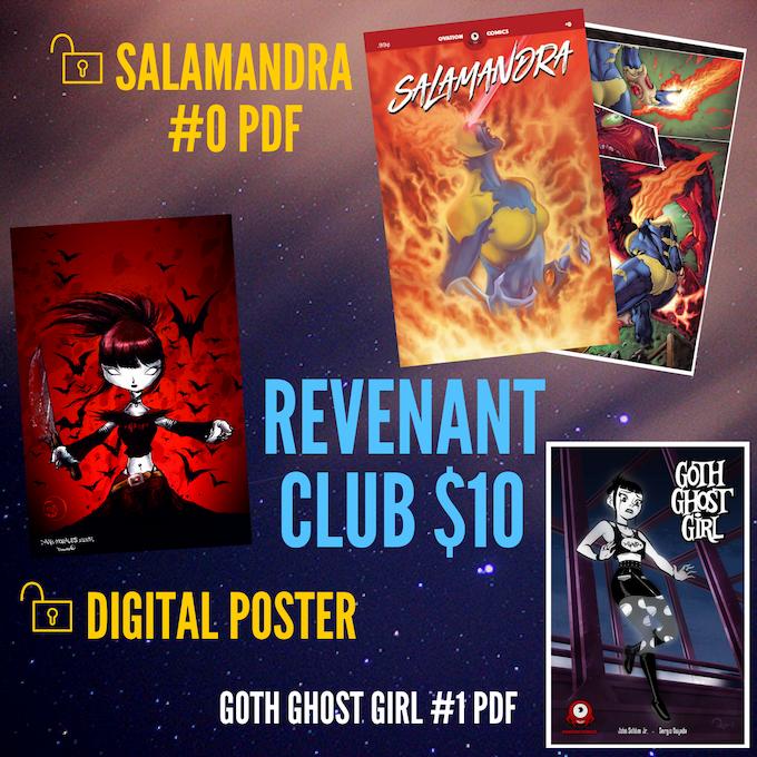 Unlock a digital poster and a PDF of the Salamandra #0 preview comic!