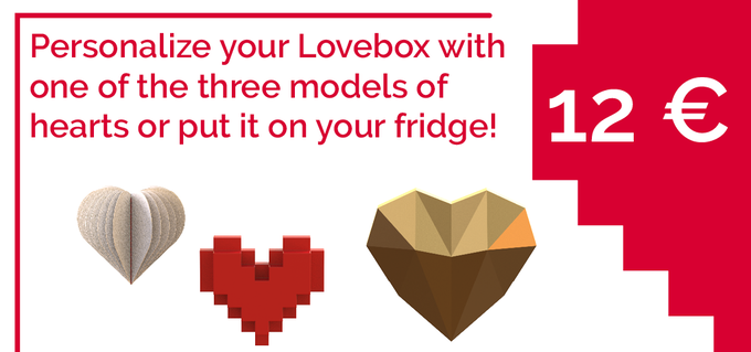 If you already have a Lovebox at home and would like to offer her a new heart or if you want to put love in your kitchen, support us by ordering a heart! Click on image to order your heart!