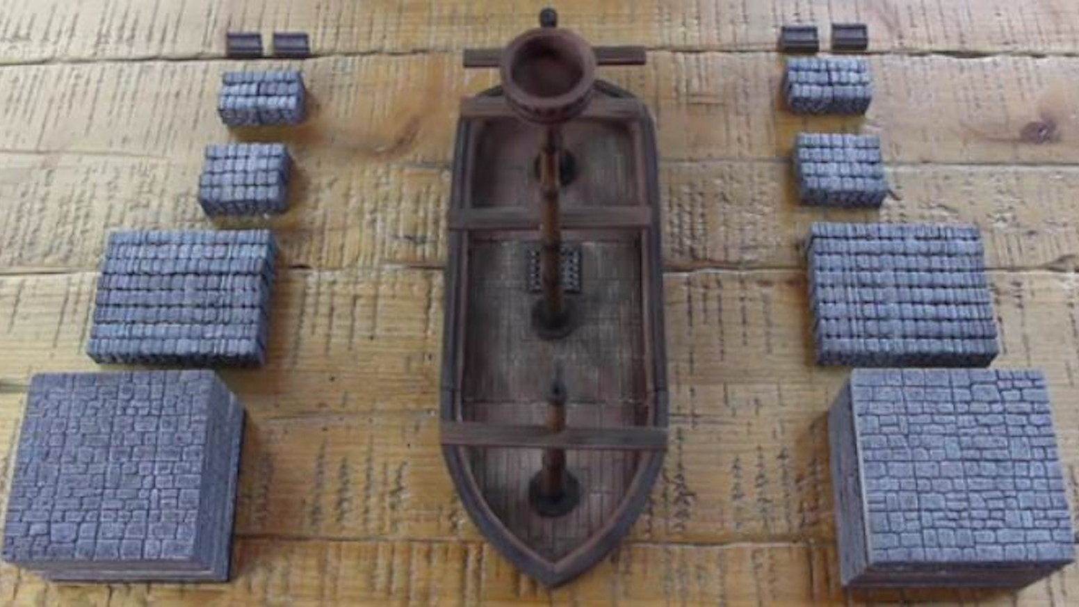 Tabletop 3D Magnetic Miniature Terrain and Customizable Ship
