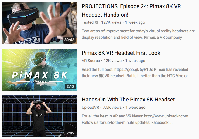 Pimax: The World's First 8K VR Headset by Pimax 8K VR
