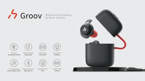 hGroov   True Wireless Smart Earbuds for Music Activists