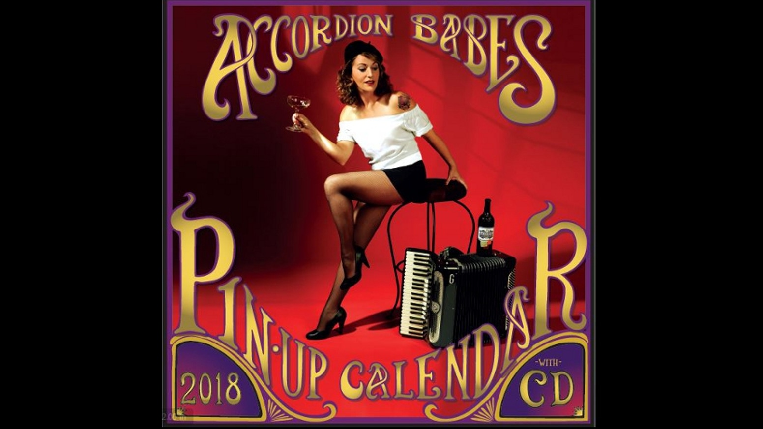 The Accordion Babes Pin-Up Calendar is the world's first sexy calendar to come with a CD, with music from the 13 indie artists inside.