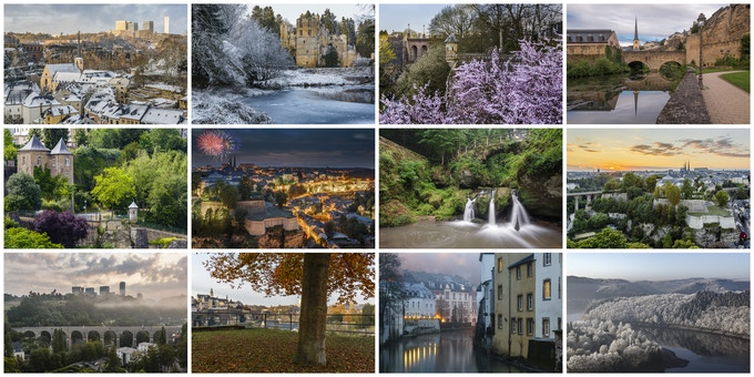 Some of the pictures that might end up in the 2018 Luxembourg calendar