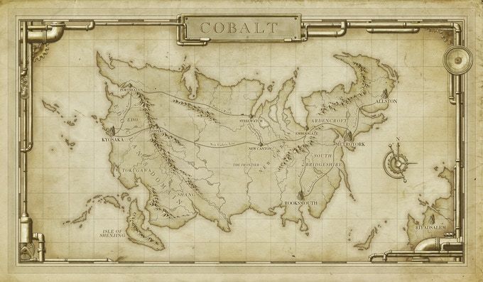 We will be using this beautiful map of the world for the new Kickstarter Exclusive playmat
