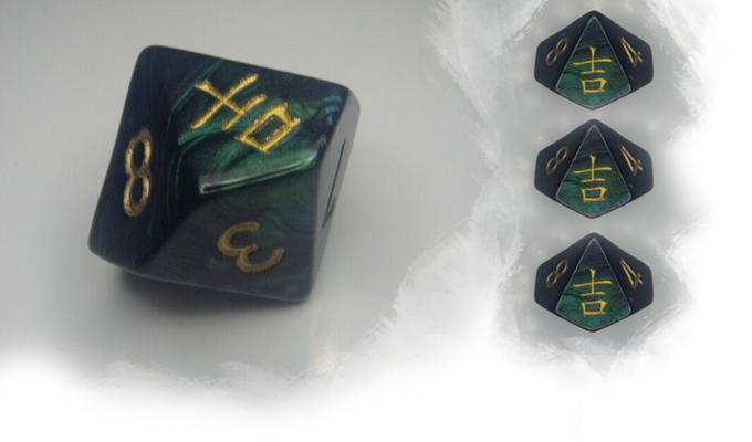 Chessex Jade Dice Proof