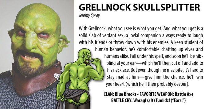 GRELLNOCK (JEREMY SPRAY) – HIS ARMOR PROFICIENCY'S HEAVY, BUT HE PREFERS LEATHER