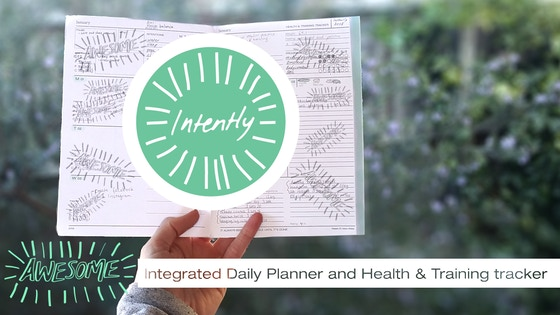 Intently 2018 Daily Planner & Fitness Tracker