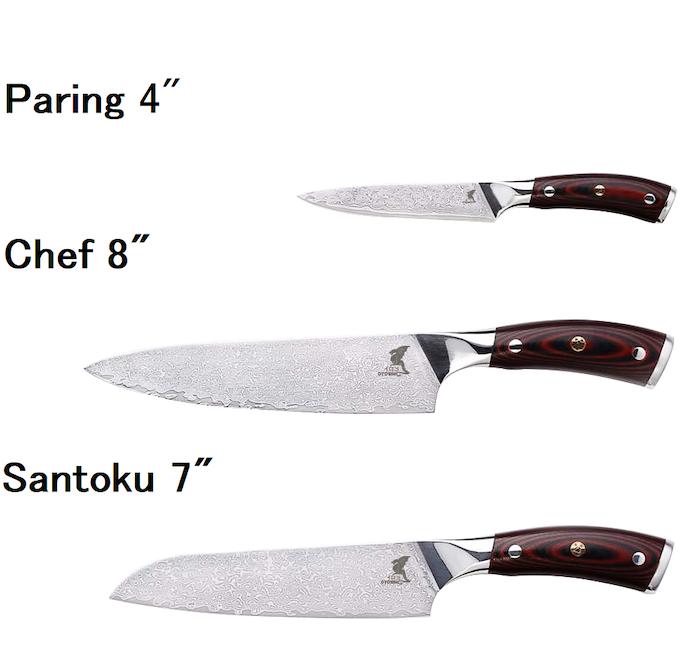 Paring, Chef & Santoku knives