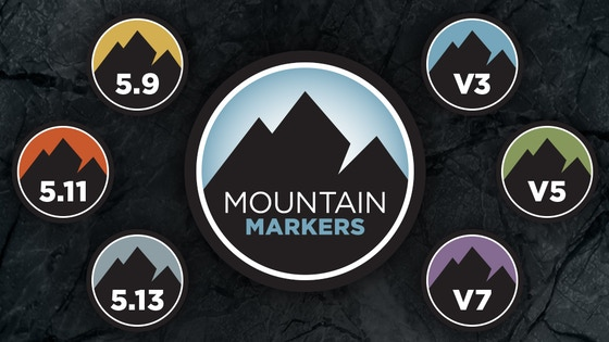 track mountain markers rock climbing stickers buttons s