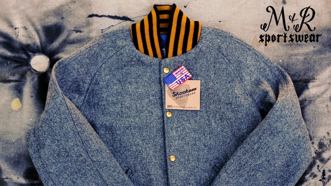 Baseball Jacket in 100% Melton Wool from Pendleton Mills
