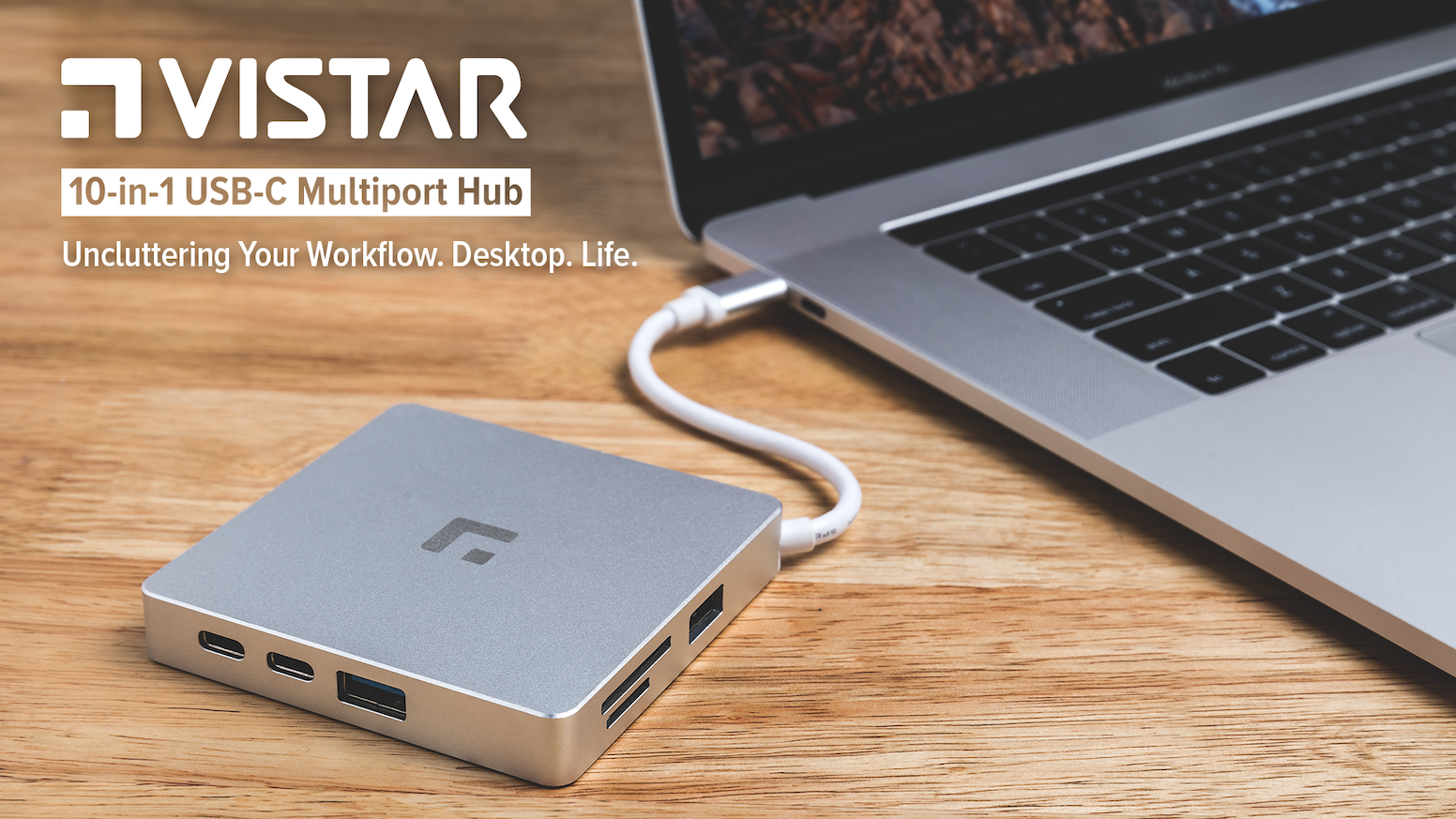 Reconnect your devices to your new USB-C equipped Mac/Windows laptop. Add ten ports with just one USB-C cable. Versatile. Robust. Safe.