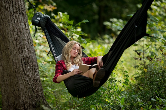 The Go Camping Hammock 2.0 is great for lounging around, even when you're not camping!