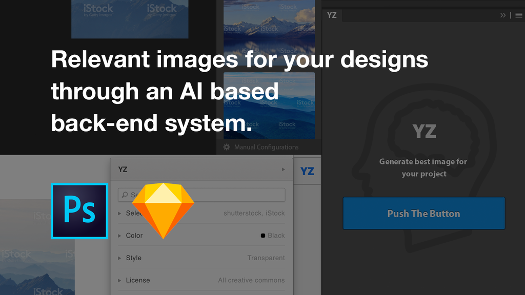 Artificial Intelligence based image search for PS & Sketch