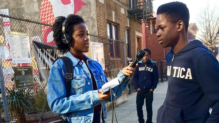 A student reporter for Brooklyn Deep, a Kickstarter-funded investigative journalism platform