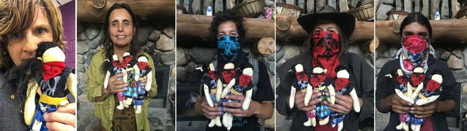 Pledge $1,000 or more  Limited Edition, Handmade Water Protector Doll  Hand Made Water Protector Doll: leather, horse and buffalo hair, fabric and beads.