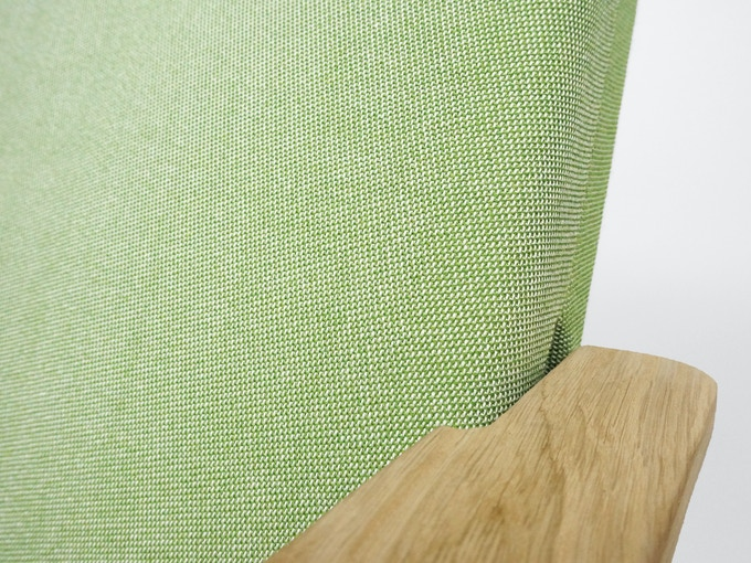 Detail of fabric in Green