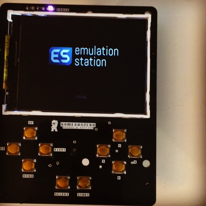 An early prototype running Emulation Station