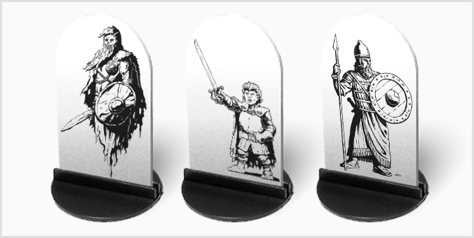 Miniature Mockup. (Backers will help determine template design.)