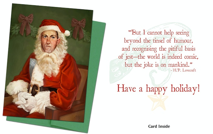 Cthulhu Card 2 - Lovecraft Claus