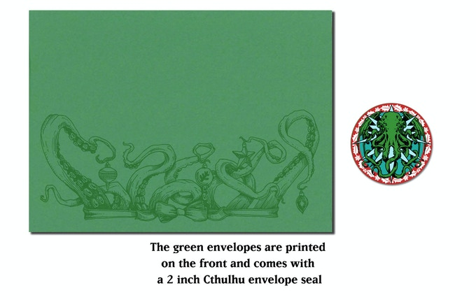 Cthulhu cards envelope and seal
