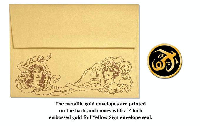 King in Yellow cards envelope and seal